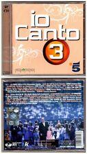 IO CANTO 3 CD NEW DOPPIO CD (2011) Nuovo Sigillato Sealed MEDIAFRIENDS