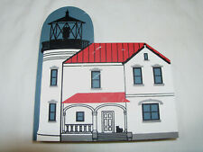 The Cat's Meow Village Faline Admiralty Head Lighthouse 1990 Shelf Sitter #1904