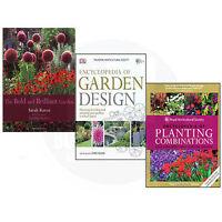 The Bold and Brilliant Garden,RHS Encyclopedia of Garden Collection 3 Books Set