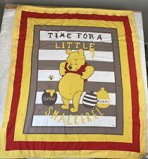 "Disney Winnie The Pooh Quilt Throw Coverlet Blanket Bedding 48""x41"""