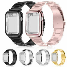 Stainless Steel Band with Screen Protector Case For Apple Watch 38/40/42/44mm 5