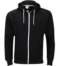 Men Boys Hoodie Sweatshirt Plain American Hooded Fleece Zip Up Jacket Zipper Top
