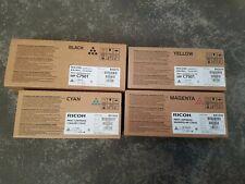4 Toner Ricoh MP C7501 CMYK Neu OVP A-Ware Rechnung Mwst