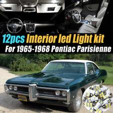 12Pc White Car Interior LED Light Bulb Kit for 1965-1968 Pontiac Parisienne