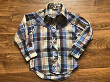 Vtg Western Billy The Kid Pearl Snap Button Down Plaid Shirt Cowboy Size 4 4T