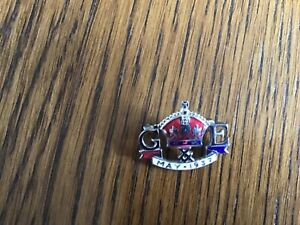Vintage 1937 King George VI Coronation Enamel Pin Badge