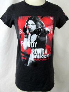 """UFC Womens Medium Screened """"ROWDY RONDA ROUSEY - BANTAMWEIGHT"""" T-Shirt UFC 121"""