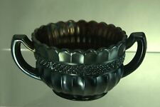 Unsigned 2 Handled Amethyst Carnival Glass Bowl