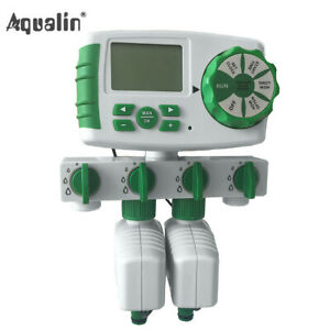 Automatic 4-Zone Irrigation System Watering Timer Garden Water Timer Controller