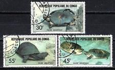 Animaux Tortues Congo (174) série complète 3 timbres oblitérés