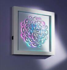 LED Wandbild Wandleuchte Blume Farbwechsel Timer Bunt Wanddeko Deko Bild hängen