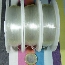 1 Carrete Hilo Elástico de Silicona 0,6mm x 100 Metros Bisuteria Rubber Elastic
