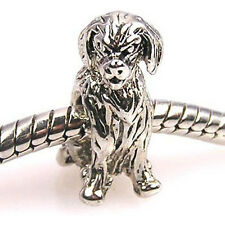 Lot 5pcs Dalmatian Dog Silver European Spacers Charms Beads For Bracelet LEB50