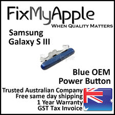 Samsung Galaxy S3 OEM Blue Power Button Sleep Side On Off Key Replacement New