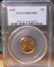 1963~~PCGS PR67RD~~PROOF LINCOLN CENT~~BEAUTY