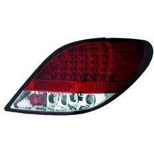 Par de faros luces traseras TUNING PEUGEOT 207 06-12 sedán 3 5 pt LED rosso