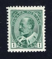 Canada 1903 Sc #89 1c green King Edward VII XF NH Mint