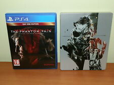 METAL GEAR SOLID V THE PHANTOM PAIN + STEELBOOK BOX PS4 USATO SICURO VERSIONE UK