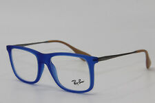 BRAND NEW RAY-BAN RB 7054 5524 BLUE EYEGLASSES AUTHENTIC FRAME RX RB7054 51-17