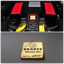 "BRABUS BITURBO B63 Style Emblem/Shield ""Built by Brabus"""
