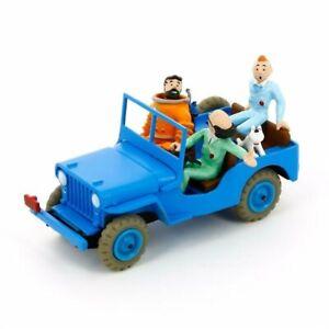 Tim & Struppi Tintin Car Model 1:43 Blue Jeep CJ 2a Moulinsart 29509