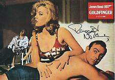 MARGARET NOLAN SIGNED JAMES BOND GOLDFINGER GERMAN LOBBY CARD - UACC & AFTAL RD