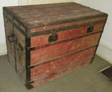 b3d580402db7 LOUIS VUITTON ANTIQUE STEAMER TRUNK EARLY EMBALLEUR LABEL C-1870 VERY LARGE  39