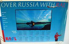 "AEROFLOT RUSSIAN INTERNATIONAL AIRLINES POSTER 1993 CALENDAR ""OVER RUSSIA RAL"""