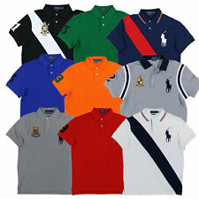 Polo Ralph Lauren Big Pony Custom Slim Fit Polo Camisa De Malla De Punto Xs S M L XL XXL