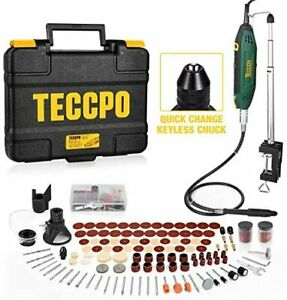 Upgraded Rotary Tool TECCPO 200W 1.8 amp, 10000-40000RPM, 6 Variable Speed with