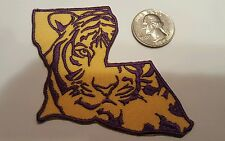 """LSU TIGERS EMBROIDERED  IRON ON  PATCH 3"""" X 3"""""""