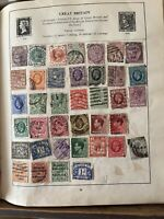 The Strand Stamp Album Full Of 100's If Stamps From All Over The World