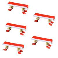 5pcs Miniature Christmas Red Chair Fairy Garden Decor Pot DIY Dollhouse