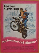 MA FEMME EST DINGUE Streisand 1974 Affiche Originale 60x80 Vintage Movie Poster