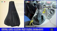 Cuffia cambio Fiat Panda Gpl 2003 > 2012 cuffie simil pelle grigio leva marce