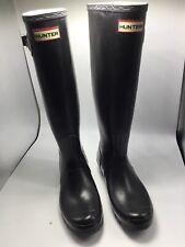 Hunter Original Women's Tall Rain Boots Black Glossy US Women's Size  8 Perfect