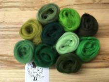 Merino wool roving/tops - Gorgeous Greens - wet/needle felting/spinning (GG)