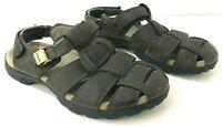 TEVA Mens 10M Sandals Brown Leather Fisherman Style