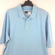NEW Men's Polo Shirt XXL Tall The Foundry Supply Light Blue Short Sleeve Career