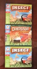 Lot of 3 Insect Two Pack 3D Models (2 Insect Kits & 1 Dinosaur Kit) Kids Create