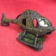 "Aquarium Fish Tank Decoration HELICOPTER Wreck 5.5 x 2.5"" Hide Shelter Ornament"