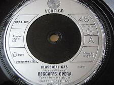 """BEGGAR'S OPERA - CLASSICAL GAS   7"""" VINYL"""
