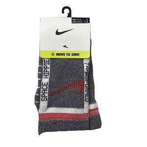Nike Move To Zero Pair Of Socks Dri-Fit Brand New Gray Womens Size 10 - 13