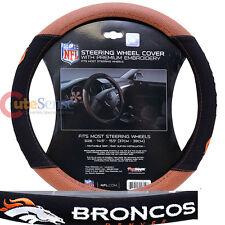 Denver Broncos Steering Wheel Cover NFL Auto Accesories Football Grip