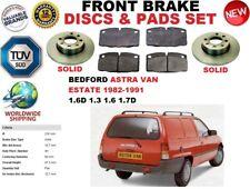für Bedford Astra Lieferwagen Kombi 82-91 solide vordere SET BREMSSCHEIBEN +