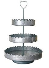 Rustic Vintage Style 3 TIERED CUPCAKE STAND display stand wedding display