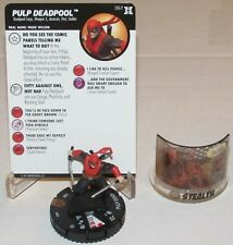 PULP DEADPOOL 067 + STEALTH COMIC PANEL Deadpool and X-Force HeroClix Chase Rare