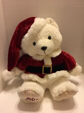 "Santa Claus  Teddy Bear Beautiful Plush 2003 Dan Dee Colletors Choice 18"" New"