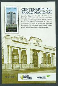 Costa Rica - Hojas Yvert 35 ** Mnh Banco nacional