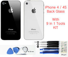 Replacement Back Glass for Apple iPhone 4S 4G Rear Cover Case Housing 1